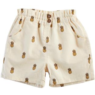 petitmain童裝男童短褲中小童2020夏季新款日系純棉水果五分褲子