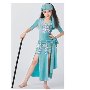 舞姿翼儿童肚皮舞表演服装2019袍子