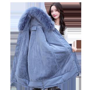 冬季加绒2019新款韩版宽松加厚棉袄