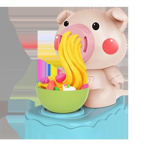 小猪宝宝面条机套装轻粘土橡皮泥