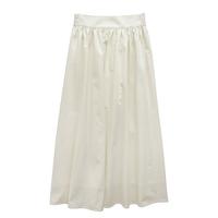 奶兔星球-自制 纯色腰封半身裙2021新款大裙摆伞裙松紧腰复古显瘦
