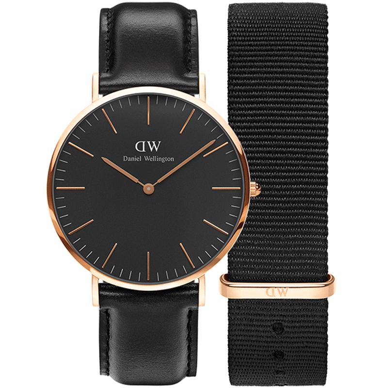Daniel Wellington dw手表男 40mm商务休闲腕表表带套装