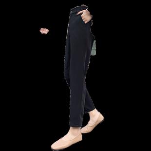 西裝褲女夏季薄款直筒寬鬆垂感九分褲子高腰顯瘦黑色長褲職業西褲