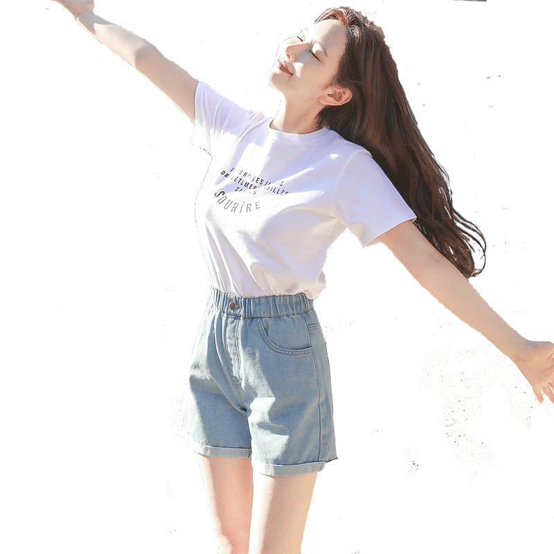 牛仔短裤女2020欧美新款韩版高腰热裤显瘦阔腿夏季薄款宽松潮破洞