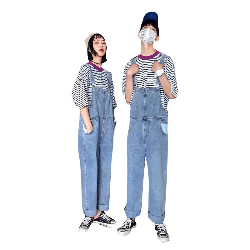 情侣背带裤显瘦2019新款夏季牛仔裤