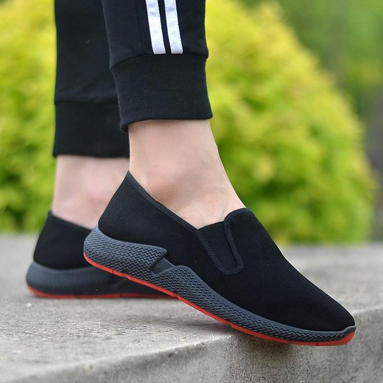 耐磨新款透气防臭休闲老北京布鞋黑中老年人父亲劳保工作男鞋方。