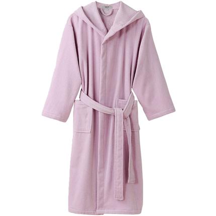 纯棉毛巾料男女成人带帽长款浴袍
