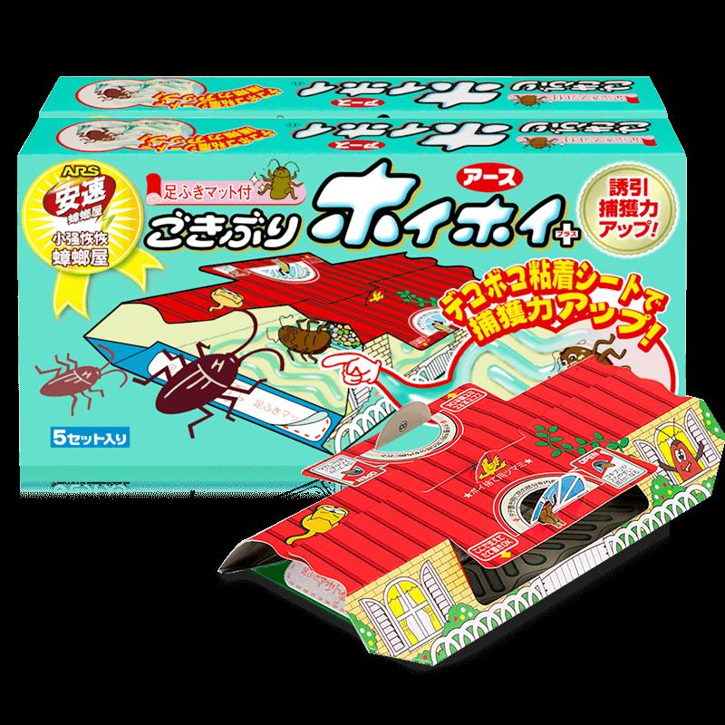日本安速蟑螂屋捕贴小强恢恢灭蟑螂药一窝端神器家用无蟑粘板克星