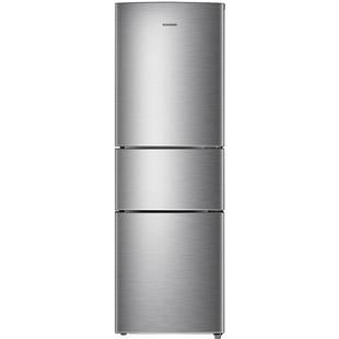 容聲218升小冰箱小型三門式三開門宿舍家用出租房節能冷藏冷凍