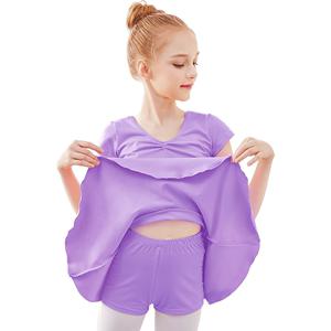 儿童夏季短袖女童分体跳舞芭蕾舞裙