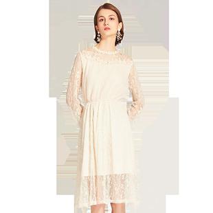 蕾丝连衣裙城市格调气质裙子