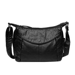 歐娜詩牛皮中年女包媽媽包2020新款百搭單肩斜挎包大容量軟皮包包
