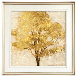 現代美式鄉村裝飾畫簡美輕奢客廳掛畫餐廳玄關牀頭掛畫金色楓樹