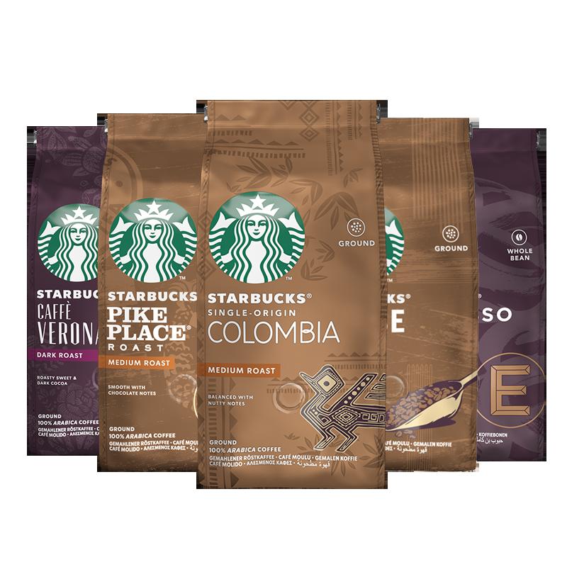 原装进口星巴克意式浓缩中度新鲜烘焙咖啡豆现磨手冲美式黑咖啡粉