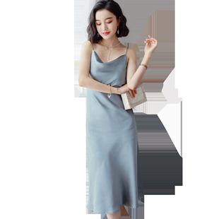吊带睡裙性感夏季冰丝长款睡衣裙子