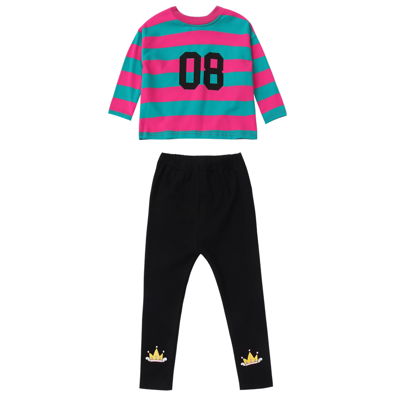 女童秋装套装2019年新款网红洋气小孩儿童秋季时髦抖音童装两件套
