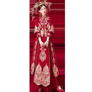 秀禾服新娘2020新款婚紗禮服新娘中式婚服紅色嫁衣結婚敬酒服秀和