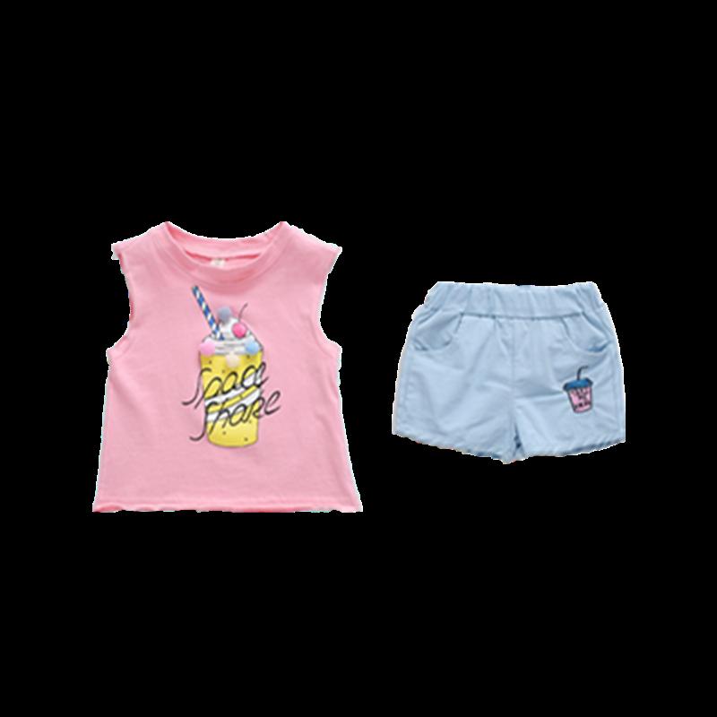 女童1夏季0夏装2婴儿童装3岁半2019新款韩版潮女宝宝短袖时髦套装