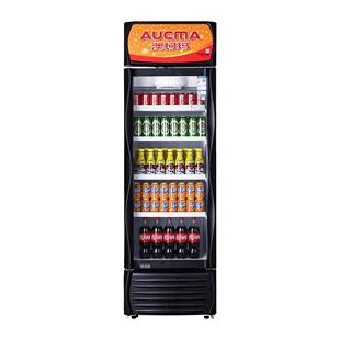 澳柯瑪風冷無霜展示櫃飲料冷藏商用冰櫃單門超市啤酒立式保鮮冰箱