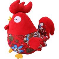 波波娃小鸡年吉祥福物大公鸡毛绒玩具生肖鸡公仔布娃娃玩偶年会礼
