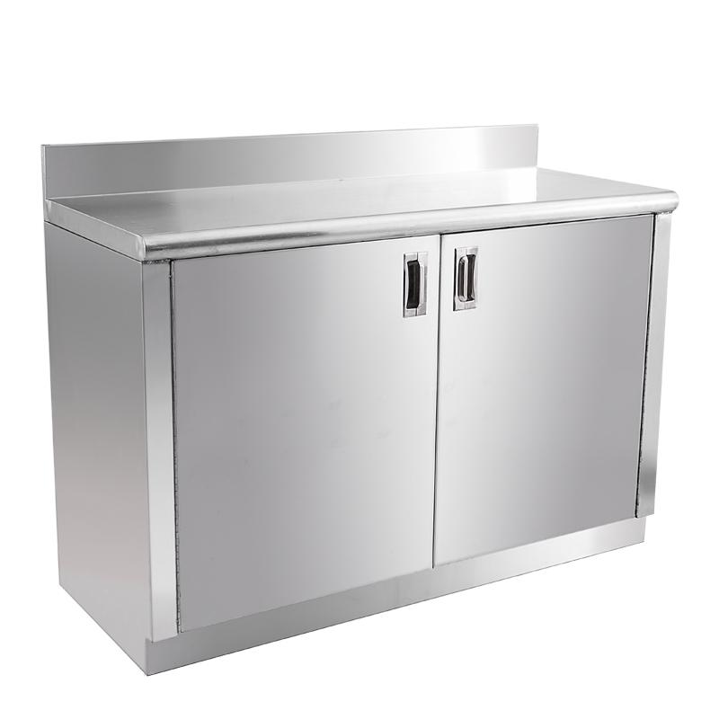 不锈钢家用推掩门厨房收纳工作台