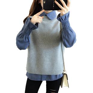 休閒時尚職業秋季毛衣馬甲兩件套裝女裝秋冬季2020年新款洋氣減齡