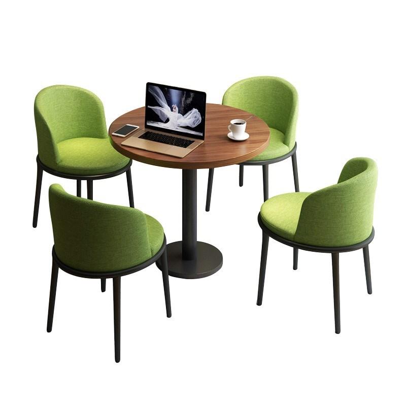 新店铺洽谈简约桌椅接待组合休闲会客奶茶店咖啡厅办公室小圆桌现