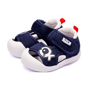 夏季宝宝凉鞋男1-3岁包头防踢软底防滑透气0一两岁婴儿学步鞋子女