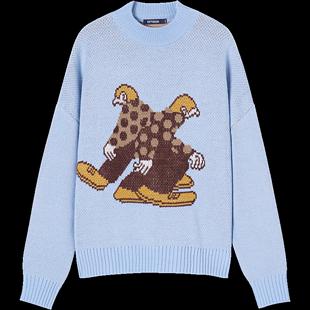 衣品天成毛衣女寬鬆外穿冬季2020新款套頭慵懶復古提花針織衫上衣