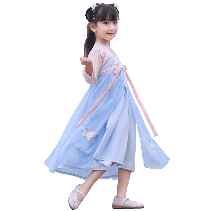 汉服夏中国风超仙儿童小女孩连衣裙