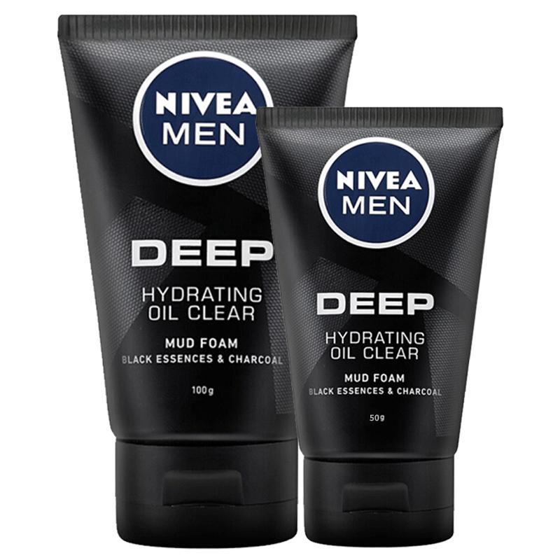 妮维雅男士控油保湿洁面乳泥深层补水清洁收缩毛孔洗面奶去黑头