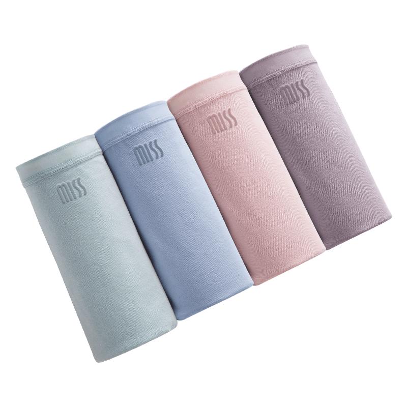 浪莎内裤女纯棉抗菌女士内裤100%全棉夏季中腰无痕透气性感三角裤