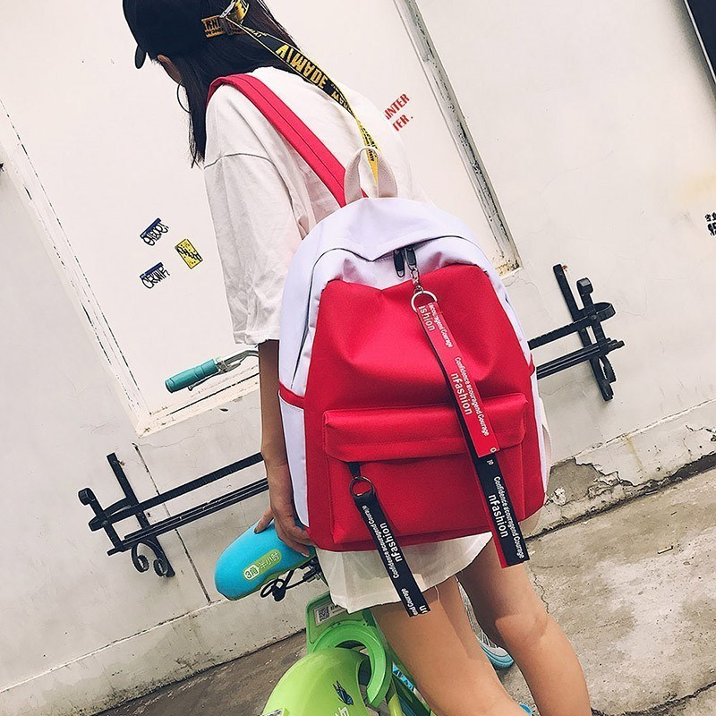 Optimization of 2019 backpack womens new Korean fashion versatile leisure travel bag campus Canvas Backpack network popular products