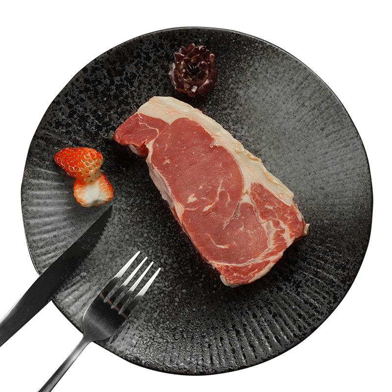 【正善牛肉哥】澳洲草饲西冷牛排6块 1000g原味原切