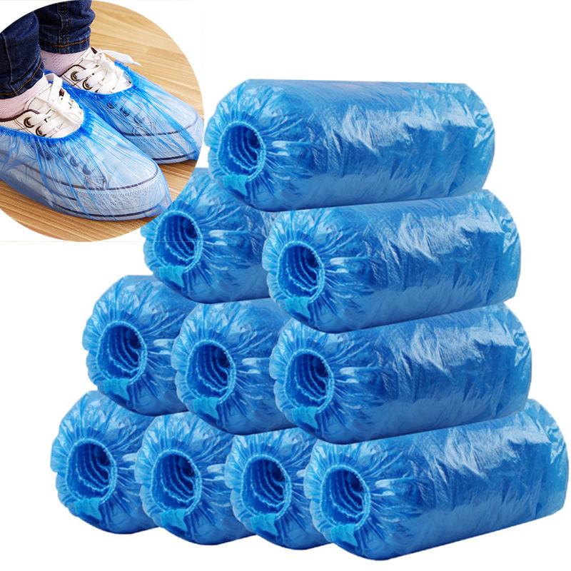 一次性鞋套室内家用防水加厚耐磨学生防滑脚套成人儿童塑料鞋套