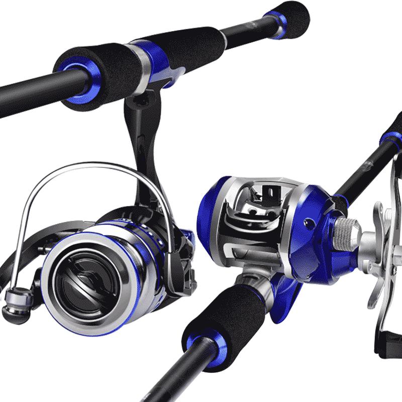 路亞竿套裝水滴輪槍柄遠投竿拋竿直柄海竿釣魚竿海杆黑魚竿馬口竿