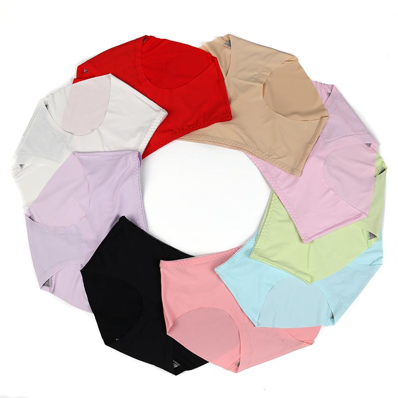 4件装蜂巢3D透气收腹提臀少女士内裤女生无裆无痕中腰裤头三角裤