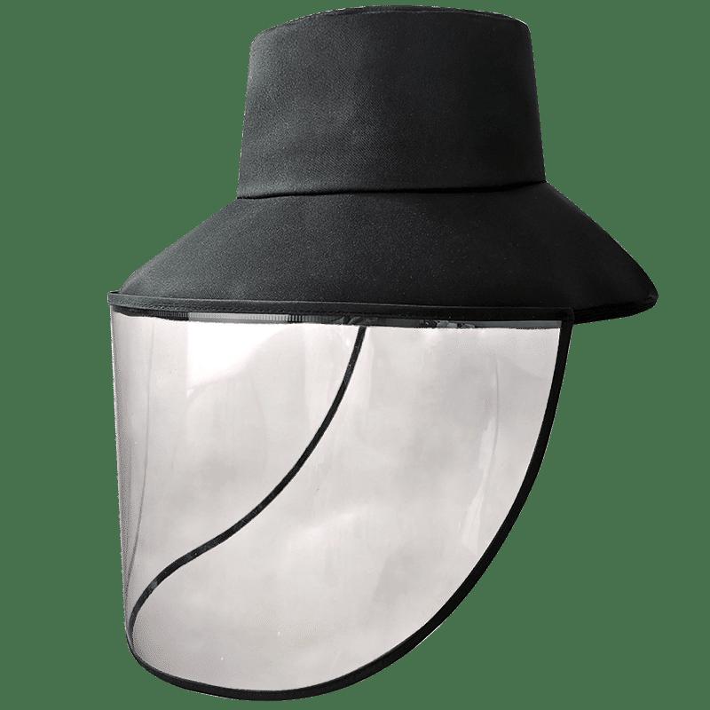 防护帽子防飞沫渔夫帽男女士夏季户外透明面罩遮脸护目防晒遮阳帽