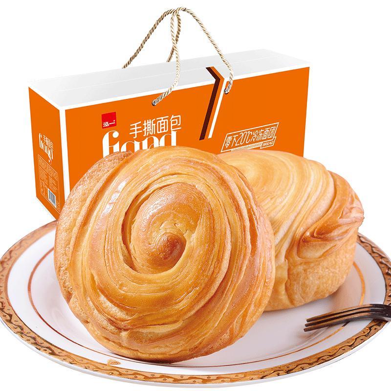 泓一 手撕面包 早餐蛋糕点心美食 网红零食小吃整箱批发休闲食品