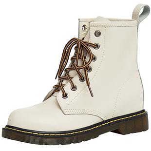 馬丁靴女2020年新款秋鞋英倫風ins潮小個子內增高短靴春秋單靴子