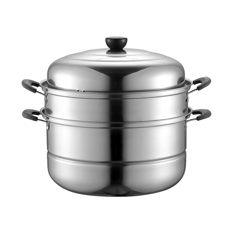 不锈钢加厚三层蒸锅