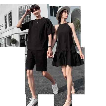 网红不一样情侣装夏装2019连衣裙