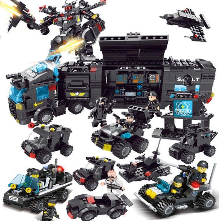 飞鹰战警700片益智拼装积木玩具