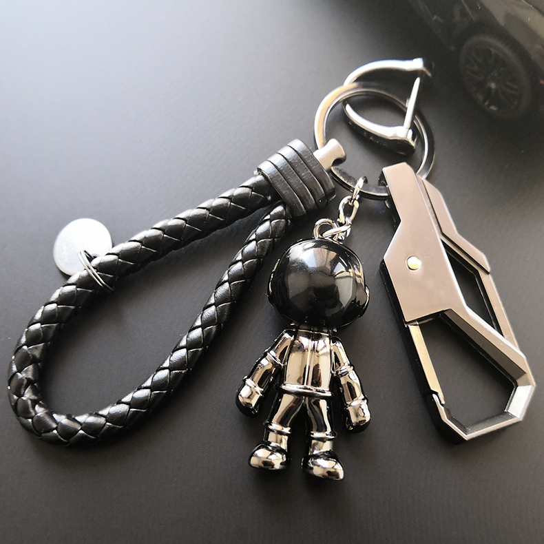 Car key accessories accessories pendant mens zinc alloy doll key ring three dimensional personality woven rope accessories trend