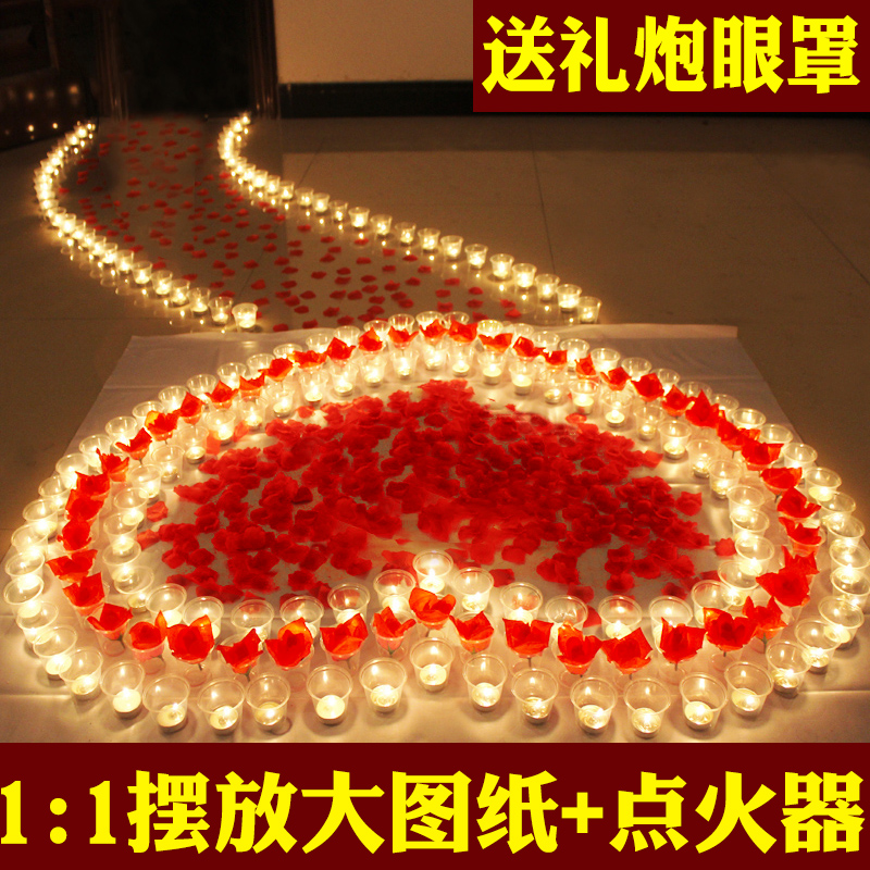 Valentines day decoration happy birthday candle creative voice marry me fireworks gift petal 520