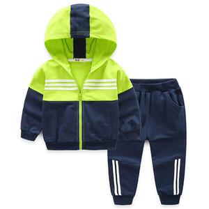 男童运动套装中大童装2021休闲裤子
