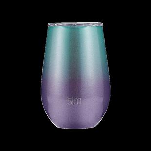 美國sim保温馬克杯帶蓋北歐ins風創意個性咖啡杯情侶杯漸變紅酒杯
