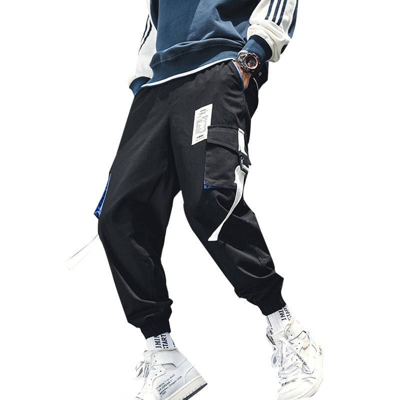 短裤男夏季运动五分裤休闲秋冬季长裤宽松大码束脚工装九分裤子潮