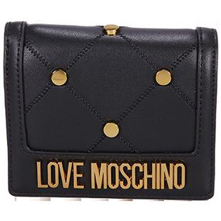 【直營】LOVE MOSCHINO愛莫斯奇諾飾釘錢包JC5616