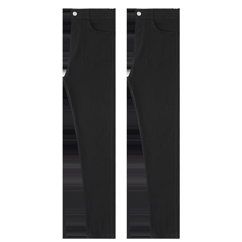 小黑裤魔术打底裤女裤子外穿2019新款高腰紧身黑色秋冬小脚加绒裤